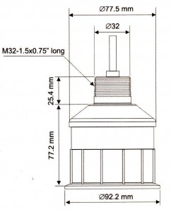 Габаритные и установочные размеры Датчика уровня ULS10
