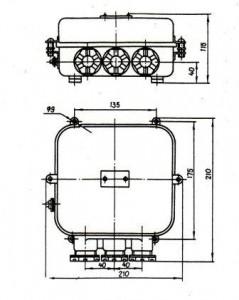 Габаритные и установочные размеры БПР4