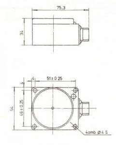 Габаритные и установочные размеры преобразователей ПИП-8-4 и ПИП-16-4