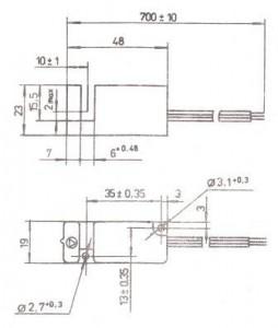 Габаритные и установочные размеры преобразователя ПИЩ-6-5