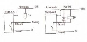Схема подключения преобразователя ПИЩ-6-5