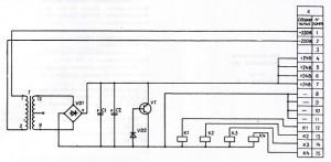 Электрическая принципиальная схема БПР4-1