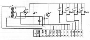 Электрическая принципиальная схема БПР4-3