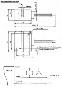 Установочные размеры и схема подключения