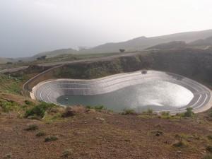 Водохранилище в кальдере