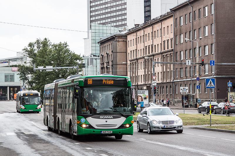 Общественный транспорт на улицах Таллинна